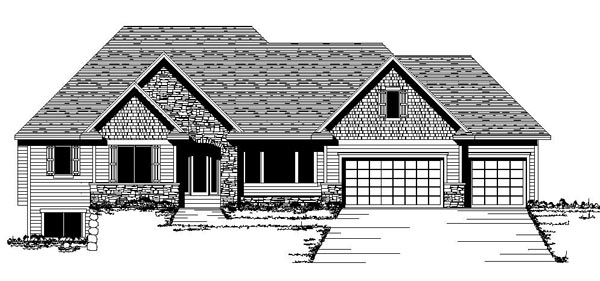 Craftsman European Traditional House Plan 42074 Elevation