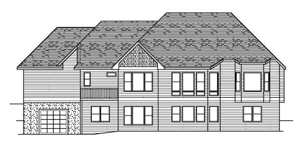 Craftsman European Traditional House Plan 42074 Rear Elevation