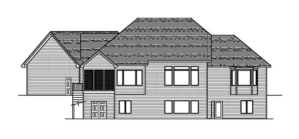 European Traditional House Plan 42075 Rear Elevation