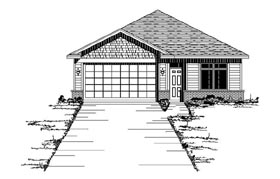 Craftsman Ranch Traditional House Plan 42077 Elevation