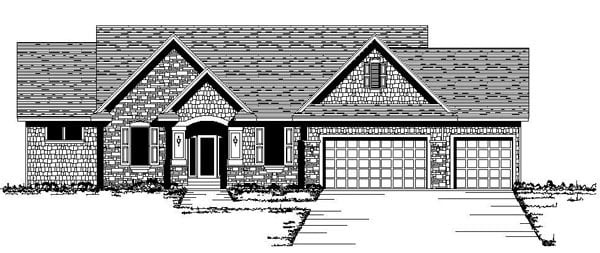 Ranch Traditional House Plan 42078 Elevation