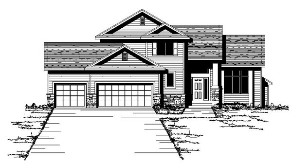 Traditional House Plan 42079 with 3 Beds, 3 Baths, 3 Car Garage Elevation