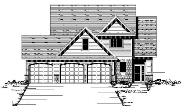 European Traditional House Plan 42081 Elevation