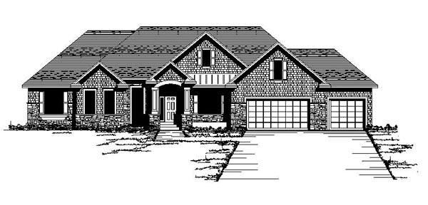 European Traditional House Plan 42083 Elevation