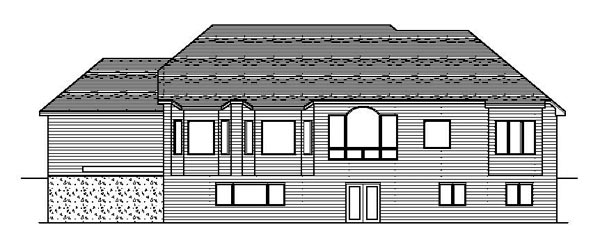 European Traditional House Plan 42083 Rear Elevation