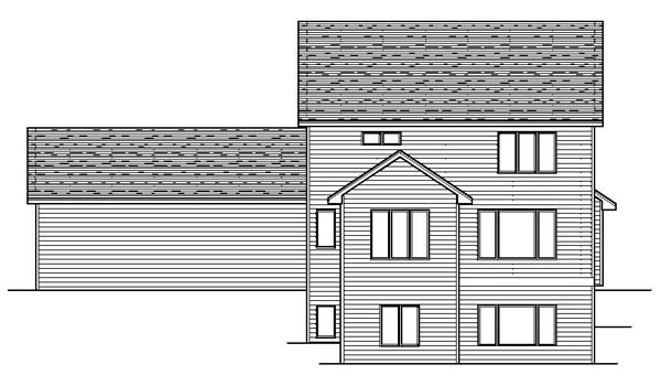 Colonial European Traditional House Plan 42084 Rear Elevation