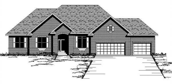 European Traditional House Plan 42085 Elevation