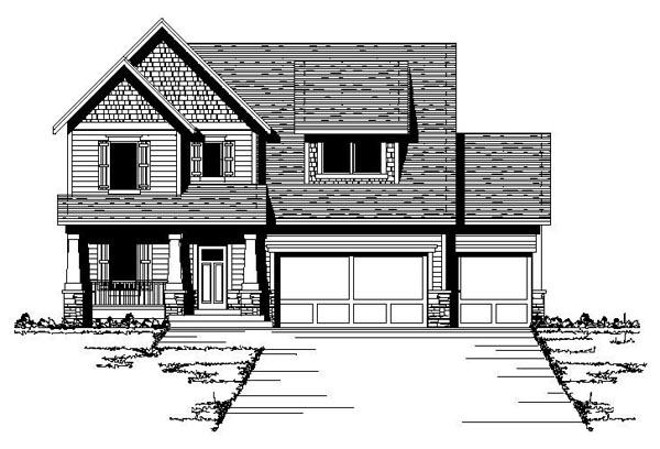 Bungalow Craftsman European Traditional House Plan 42086 Elevation
