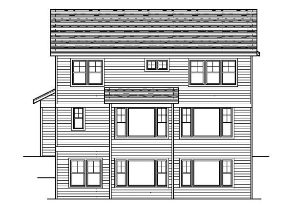 Bungalow Craftsman Traditional House Plan 42087 Rear Elevation