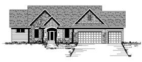 Tudor , Traditional , Craftsman House Plan 42101 with 3 Beds, 2 Baths, 3 Car Garage Elevation