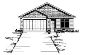 House Plan 42103 | Traditional Style Plan with 1723 Sq Ft, 2 Bedrooms, 2 Bathrooms, 2 Car Garage Elevation