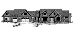Craftsman Traditional House Plan 42104 Elevation