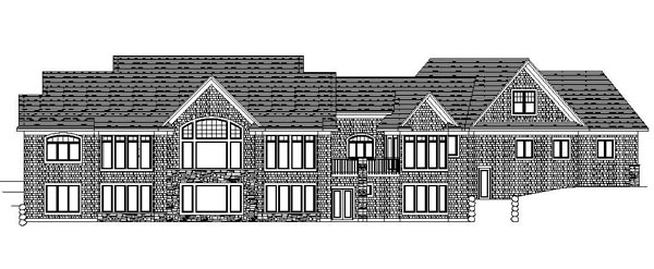 Craftsman Traditional House Plan 42104 Rear Elevation