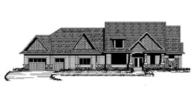 House Plan 42105 | Craftsman European Traditional Style Plan with 4773 Sq Ft, 5 Bedrooms, 5 Bathrooms, 3 Car Garage Elevation