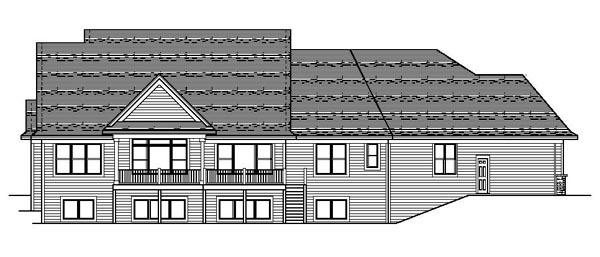 Craftsman European Traditional House Plan 42105 Rear Elevation