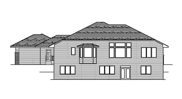 Contemporary European House Plan 42106 Rear Elevation