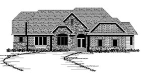 Craftsman European Ranch Traditional House Plan 42107 Elevation