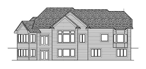 Craftsman European Ranch Traditional House Plan 42107 Rear Elevation