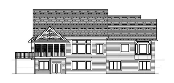 European Ranch Traditional House Plan 42108 Rear Elevation