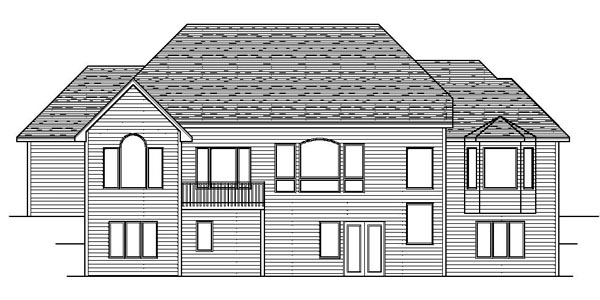 European Traditional House Plan 42109 Rear Elevation