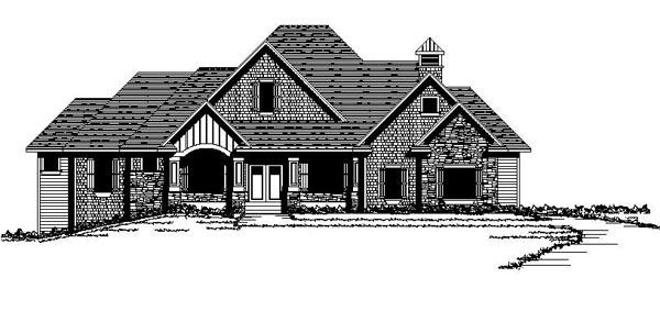 Craftsman European Traditional House Plan 42110 Elevation