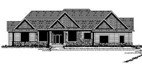Craftsman European Ranch Traditional House Plan 42112 Elevation