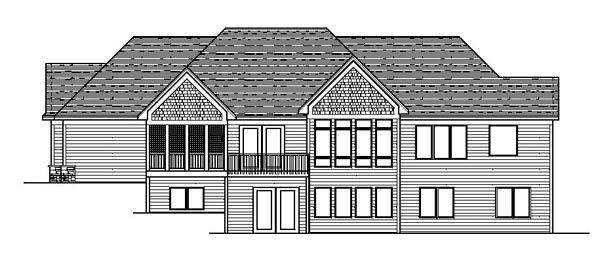 Craftsman European Ranch Traditional House Plan 42112 Rear Elevation