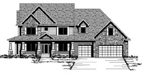 Colonial Country Craftsman European Traditional House Plan 42113 Elevation