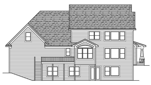 Colonial Country Craftsman European Traditional House Plan 42113 Rear Elevation