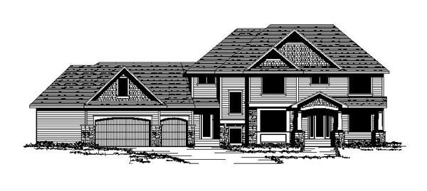 Colonial Craftsman European Traditional House Plan 42114 Elevation
