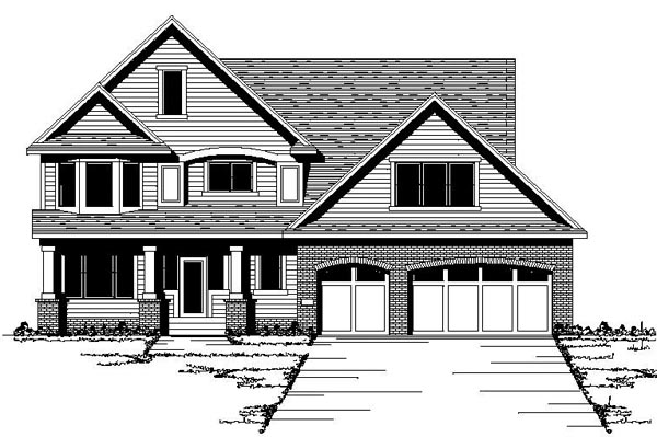 Country Craftsman European Traditional Victorian House Plan 42116 Elevation