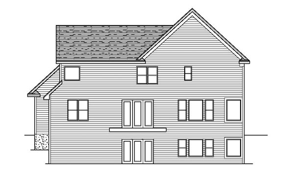 Country Craftsman European Traditional Victorian House Plan 42116 Rear Elevation