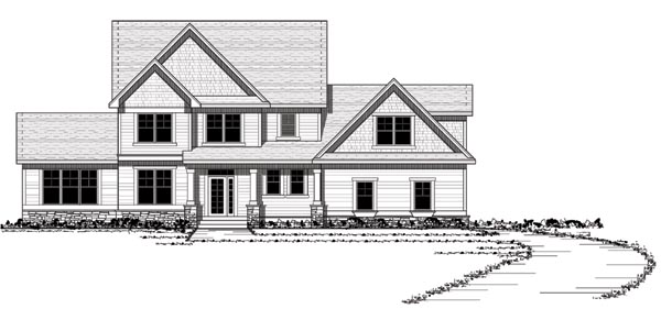 Colonial Country European Traditional House Plan 42117 Elevation