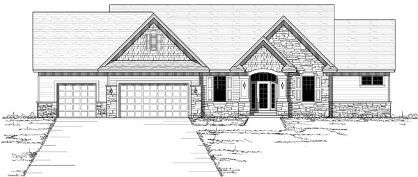 Craftsman Ranch Traditional House Plan 42120 Elevation