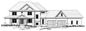 Colonial , European , Traditional House Plan 42122 with 3 Beds, 3 Baths, 4 Car Garage Elevation