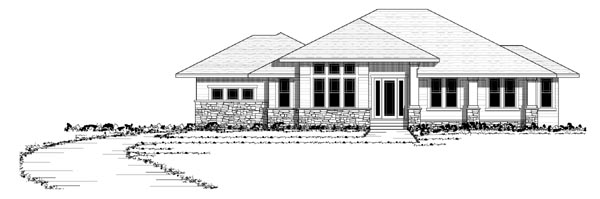 Southwest Traditional House Plan 42123 Elevation
