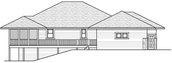 Southwest Traditional House Plan 42123 Rear Elevation