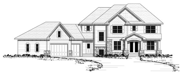 Colonial European Traditional House Plan 42125 Elevation