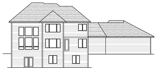 Colonial European Traditional House Plan 42125 Rear Elevation