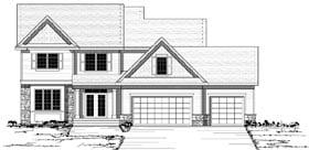 Colonial , European , Traditional House Plan 42126 with 4 Beds, 3 Baths, 3 Car Garage Elevation