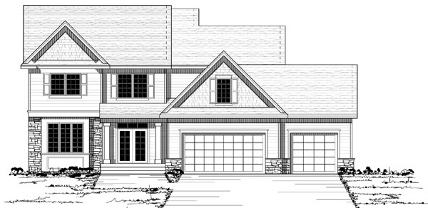 Colonial European Traditional House Plan 42126 Elevation