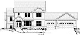Traditional , European , Country House Plan 42127 with 3 Beds, 3 Baths, 3 Car Garage Elevation