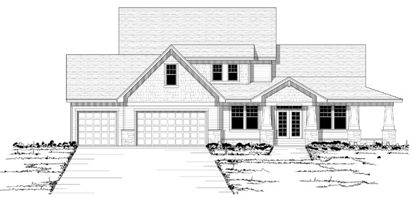 House Plan 42128 | Country European Traditional Style Plan with 2800 Sq Ft, 4 Bedrooms, 3 Bathrooms, 3 Car Garage Elevation