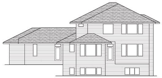 Prairie Style Southwest House Plan 42130 Rear Elevation