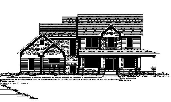 Craftsman European Farmhouse Traditional House Plan 42131 Elevation