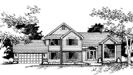 Traditional House Plan 42140 with 3 Beds, 3 Baths, 2 Car Garage Elevation
