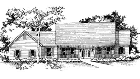 Country House Plan 42142 Elevation