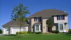 European House Plan 42150 with 3 Beds, 3 Baths, 3 Car Garage Elevation