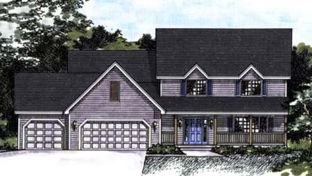 Southern House Plan 42154 with 4 Beds, 3 Baths, 3 Car Garage Elevation