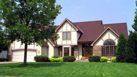 House Plan 42156 | Tudor Style Plan with 2523 Sq Ft, 3 Bedrooms, 3 Bathrooms, 2 Car Garage Elevation